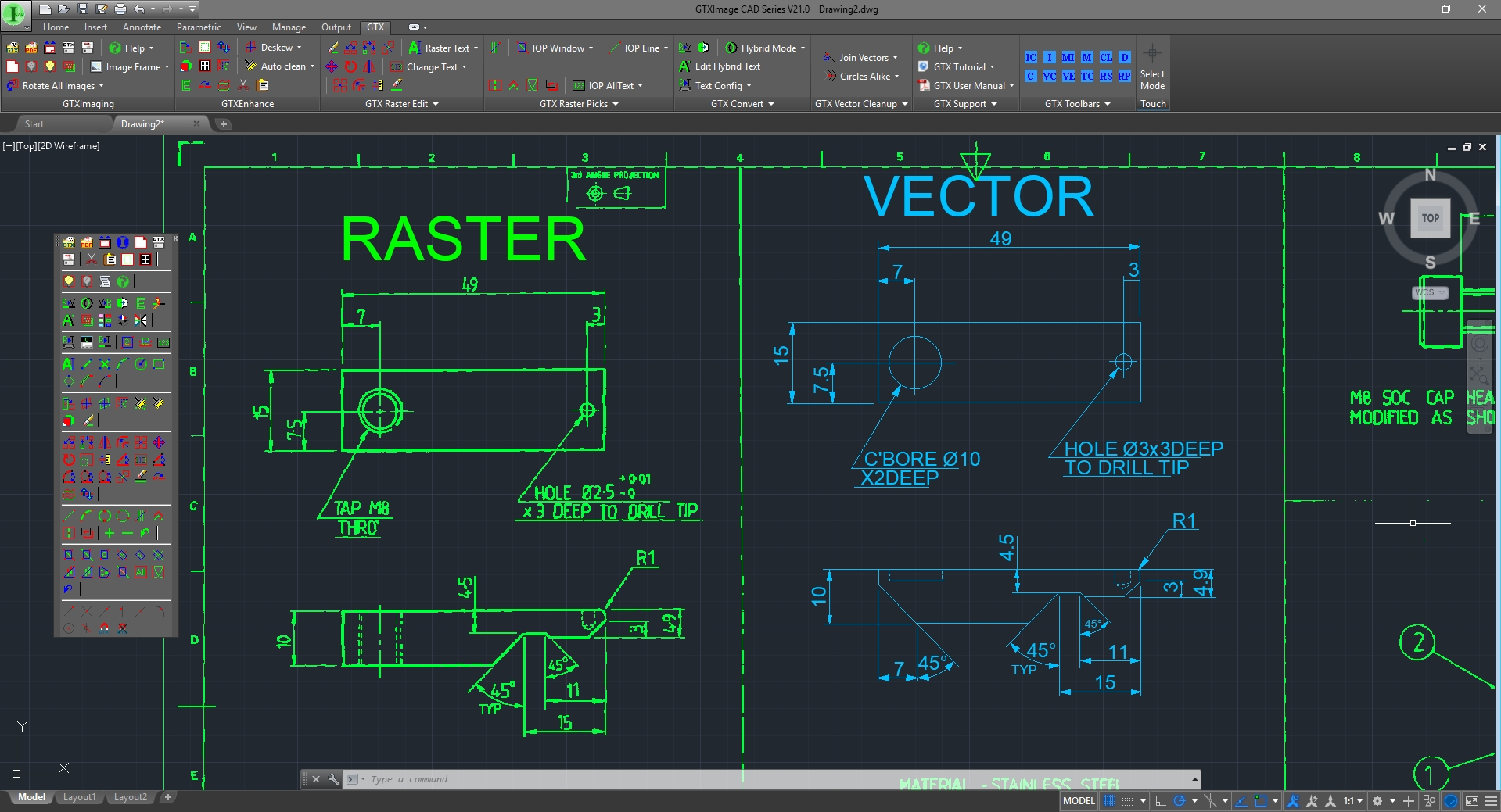 GTXImage Cad Series Raster to Vector Screenshot